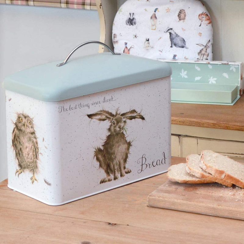 Wrendale Designs Bread Bin- 'Hare-Brained', 'What a Hoot' and 'The Crash Landing' - Bee's Emporium