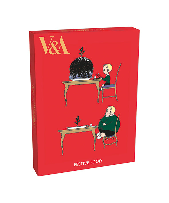 Museums & Galleries Box of 16 V&A Christmas Cards - Christmas Treats