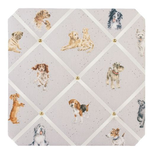Wrendale Designs - A Dog's Life Fabric Notice Board