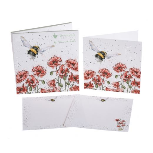 Wrendale Designs 'Flight of the Bumblebee' Notecard Pack - Bee's Emporium