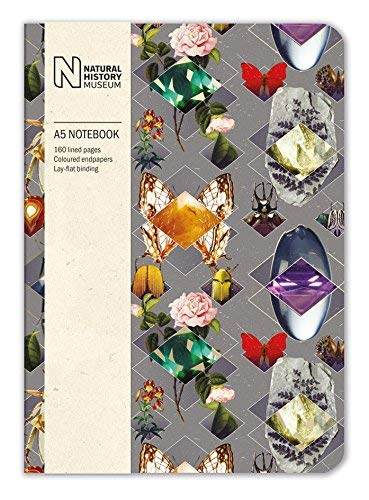 Natural History Museum Beetles & Jewels A5 Luxury Notebook - Bee's Emporium