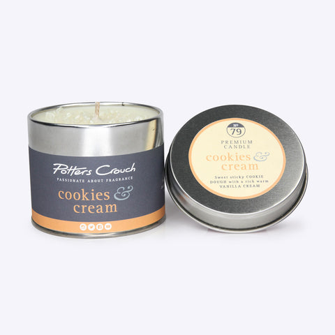 Potters Crouch - Candle Tin - Cookies & Cream - Bee's Emporium