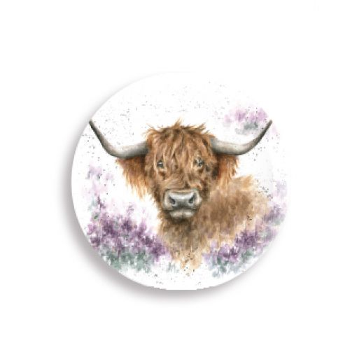 Wrendale Country Set Collection Highland Heathers Magnet (Highland Cow) - Bee's Emporium