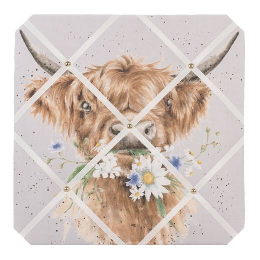 Wrendale Designs 'Daisy Coo Cow' Fabric Notice Board - Bee's Emporium