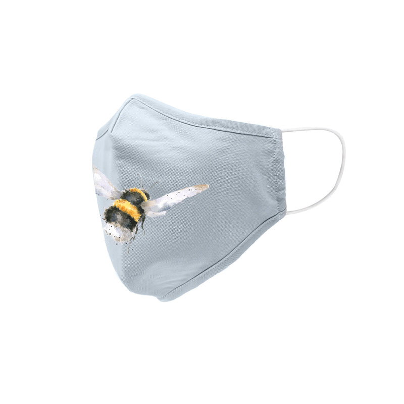 Wrendale Designs Cotton & Bamboo Adult Face Covering - Flight of the Bumblebee