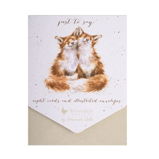 Wrendale Designs - 'Just to Say Foxes' Notelet Set - Bee's Emporium