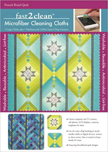 Fast2clean French Braid Quilt Microfiber Cleaning Cloths - Bee's Emporium