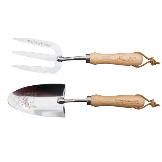 Wrendale Garden Tools Illustrated Stainless Steel Fork & Trowel Set - Bee's Emporium