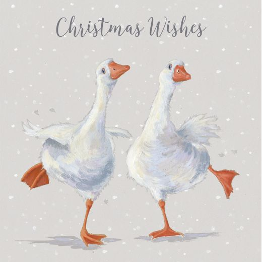 Wrendale Designs – 'Dancing on Ice' Geese Luxury Boxed Christmas Cards
