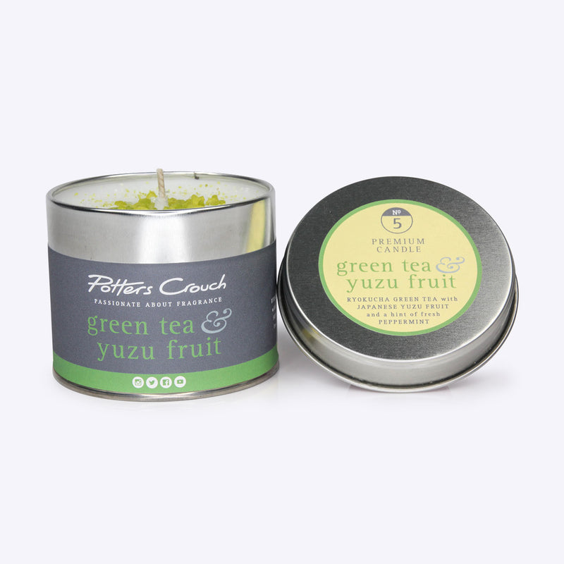 Potters Crouch - Candle Tin - Green Tea & Yuzu - Bee's Emporium
