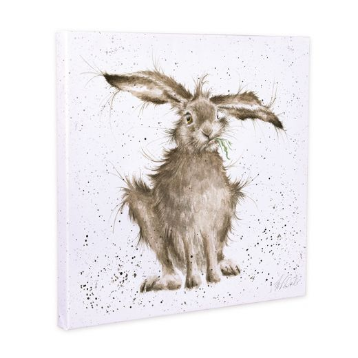 Wrendale Designs 'Hare Brained' Hare 20cm Canvas Print