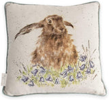 Wrendale Designs Bright Eyes Hare Feather Filled Cushion - Cotton Linen Blend - Bee's Emporium