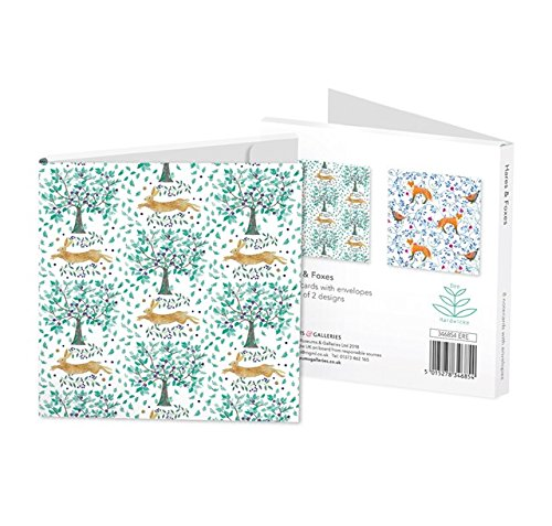 Dee Hardwicke Hares And Foxes Square Notecards Wallet - Bee's Emporium