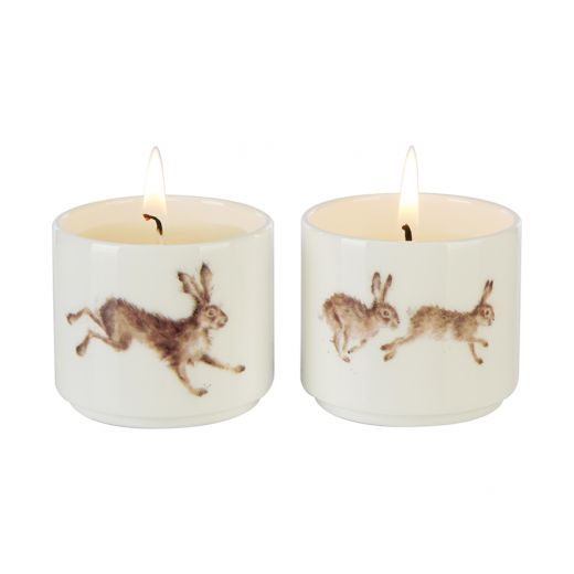 Wax Lyrical - Wrendale Designs 'Meadow' Hares Candle Gift Set - Bee's Emporium