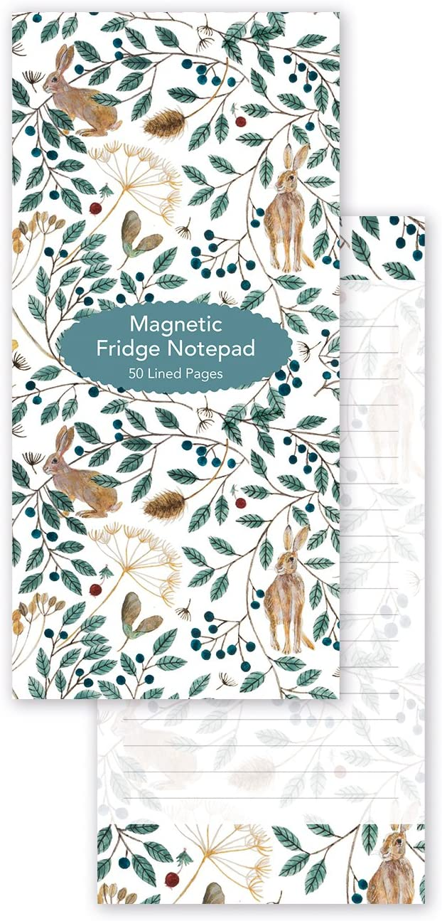 Dee Hardwicke Hares & Berries Magnetic Fridge Shopping To-Do List - Bee's Emporium