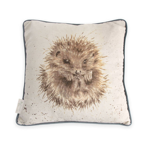 Wrendale Designs The Awakening Hedgehog Cushion - Cotton Linen Blend