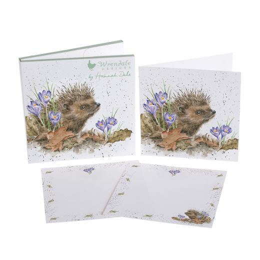 Wrendale Designs 'New Beginnings Hedgehog' Notecard Pack - Bee's Emporium