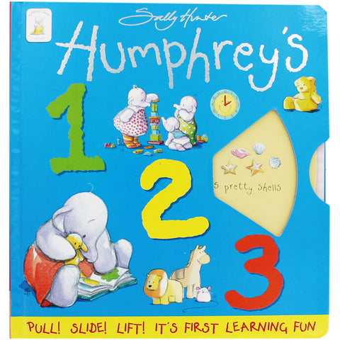 Humphrey's 123 Pull! Slide! Lift! It's First Learning Fun (Board Book) - Bee's Emporium