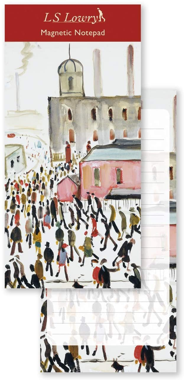 L.S Lowry Going to Work Magnetic Notepad - Bee's Emporium