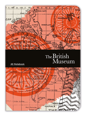 The British Museum Map of the World A5 Luxury Notebook - Bee's Emporium