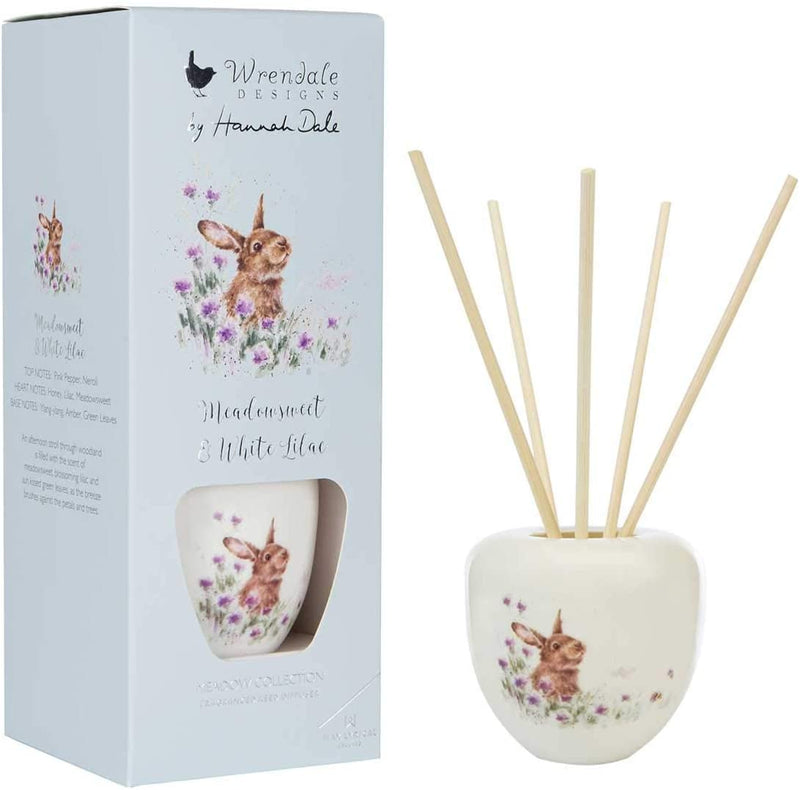 Wax Lyrical - Wrendale Designs 'Meadow' Rabbit 200ml Reed Diffuser - Bee's Emporium