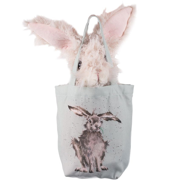 Wrendale Designs Rowan the Hare Soft Plush Toy in Canvas Gift Bag