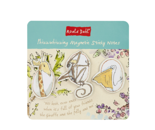 Roald Dahl Magnetic Sticky Notes (3 Pk) - Bee's Emporium