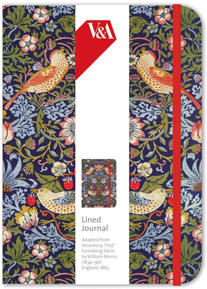 V&A William Morris Strawberry Thief Elasticated Journal