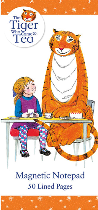 The Tiger Who Came to Tea Magnetic Fridge Shopping To-Do List Notepad - Bee's Emporium
