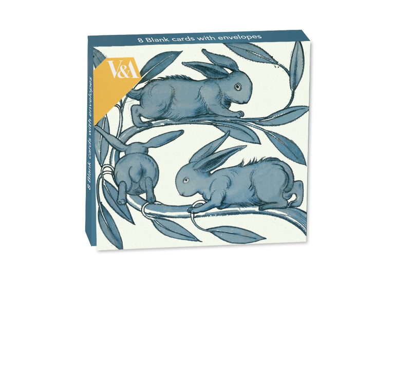 William De Morgan Rabbits Running Along a Branch Mini Notecard Wallet - Bee's Emporium