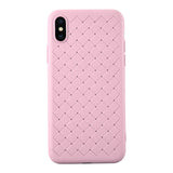 RipTech iPhone Xs Max Ultra Thin Silicone Weave Protective Cover Case (Pink)