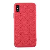 RipTech iPhone Xs Max Ultra Thin Silicone Weave Protective Cover Case (Red)
