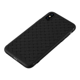 RipTech iPhone Xs Max Ultra Thin Silicone Weave Protective Cover Case (Black)