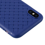 RipTech iPhone Xs Max Ultra Thin Silicone Weave Protective Cover Case (Blue)