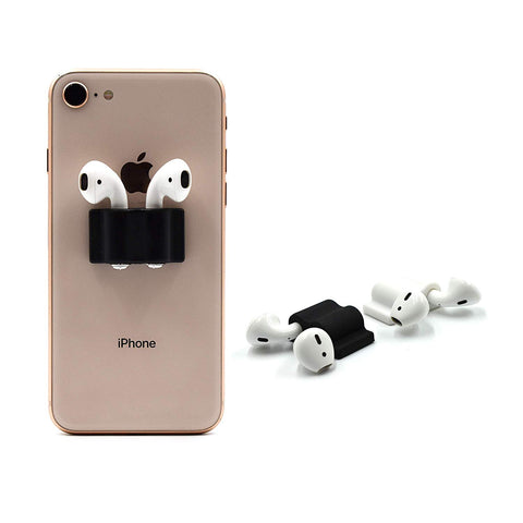 RipTech AirPod Holder Accessory | AirPods and Earbud Holder (Black 2 Units)