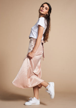 Addy Wrap Skirt* NUDE