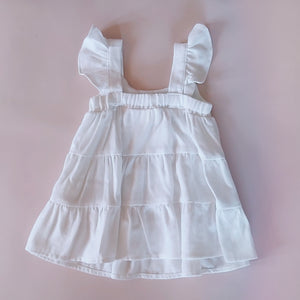 Layla Linen Dress* White