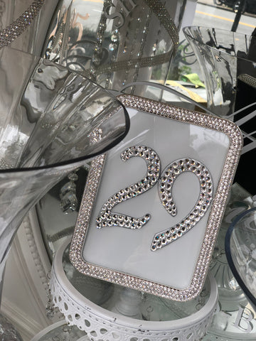 Crystal Elegance Table Number Sign Frame