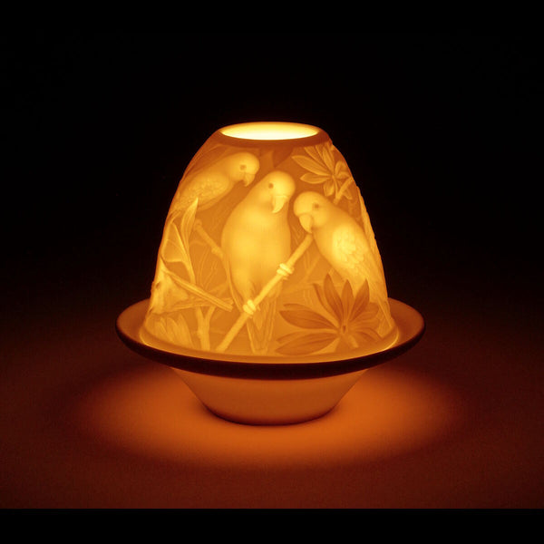 Lladro Lithophane votive light - Parrots Dalmazio Design