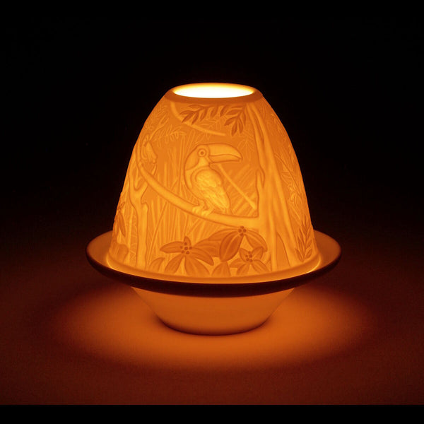 Lladro Lithophane votive light - Toucans Dalmazio Design