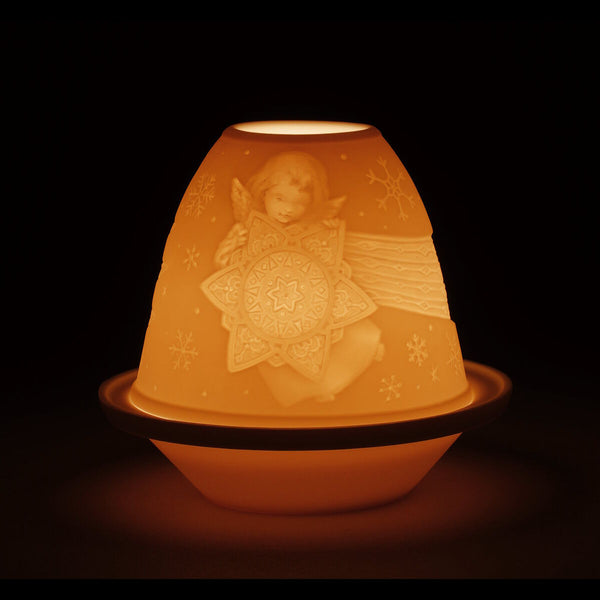 Lladro Lithophane votive light -Angel with star Dalmazio Design