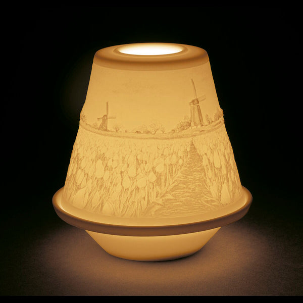 Lladro Lithoph. votive light - Tulips in Spring Dalmazio Design