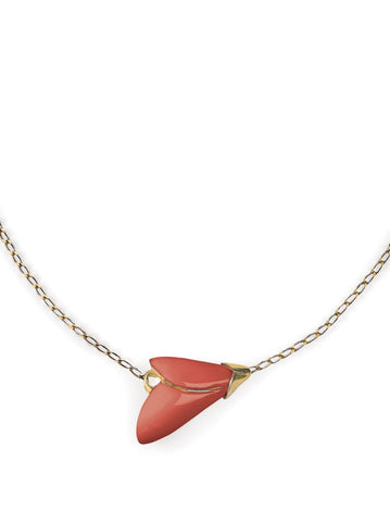 Heliconia Pendant. Coral