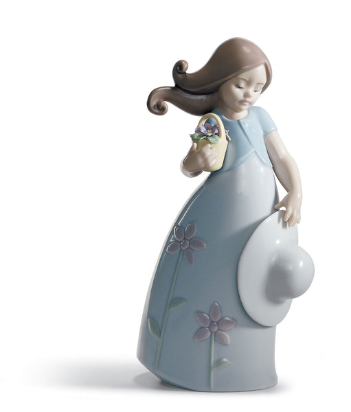 Lladro Little Violet Girl Figurine - Dalmazio Design