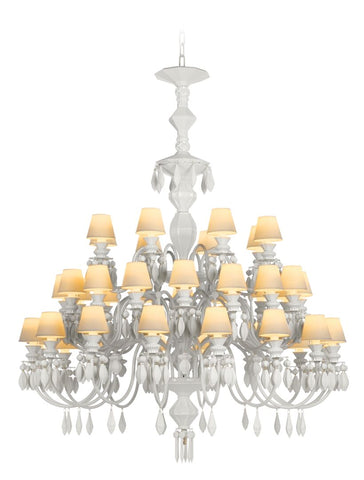 Lladro Belle de Nuit 40 Lights Chandelier&#44 White (US) Dalmazio Design
