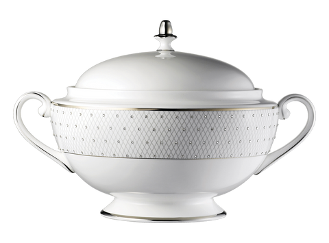 Princess Platinum Covered Vegetable Bowl / Soup Tureen