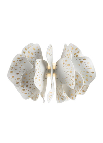 Nightbloom Wall Sconce. White & gold. (US)