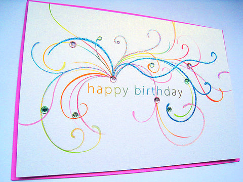 Fanciful Lettering Birthday Card