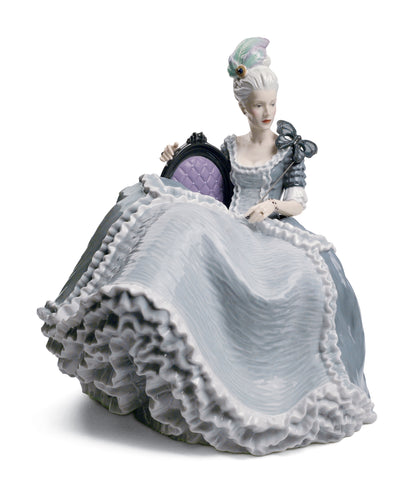 Rococo Lady at The Ball Figurine