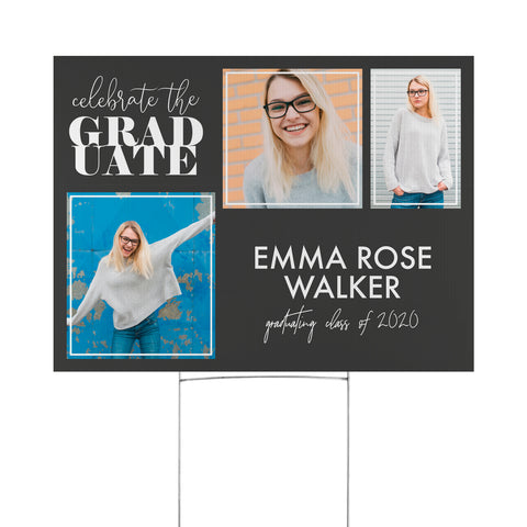 Personalized Grad Time Yard Sign